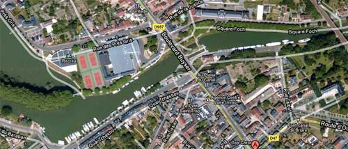 Briare par Google Earth